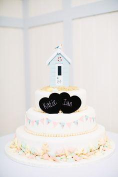 Wedding Seaside Beach Hut Wedding Cake http://hayleysavagephotography.co.uk/