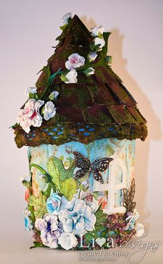 DIY Sweet Fairy House From Empty Ice-cream Jar - Tutorial