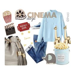 Cinema Days by fineid on Polyvore featuring moda, Converse, See by Chloé, Sydney Evan, Frontgate, The Hampton Popcorn Company and Lazy Susan