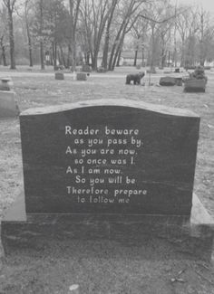 picture prompt: Follow me. write a story that features this gravestone.