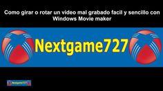 Como girar o rotar un video mal grabado facil  sencillo y rápido con Win...
