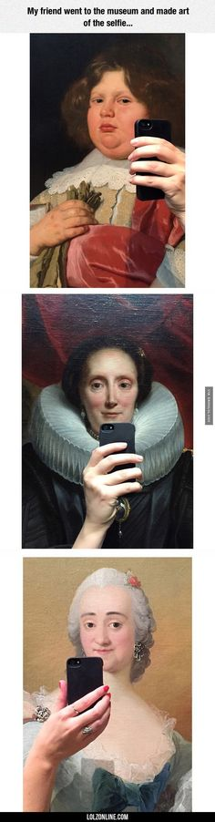 The Art Of The Selfie. Lol her nails are suddenly red in the last pic.