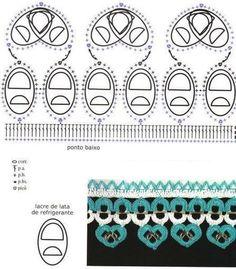 Crochet Tin Rings - Chart