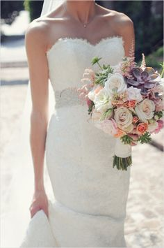 Bridal bouquets, Wedding bouquets and Wedding ceremony flowers