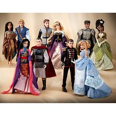 DIsney Fairytale dolls ~ I'm totally saving up for Aurora and Philip.