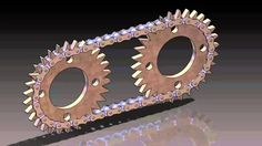 Gears with chain: are two wheels or more cogs joined by a chain of links.