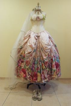 Victorian Style Wedding Dress Created by Michal Negrin