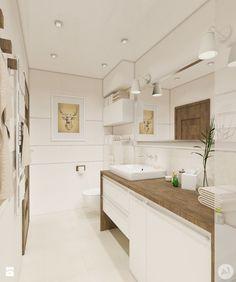 Projekt łazienka w ciepłych kolorach - 'makeover' - Średnia łazienka w bloku bez okna, styl nowoczesny - zdjęcie od A1Studio