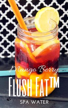 Not Quite a Vegan...?: Flush Fat™ Mango Berry Spa Water