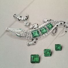 Cartier. Crocodile bracelet sketch...♡