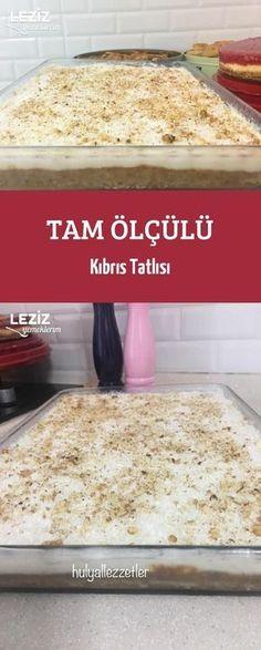 Tam Ölçülü Kıbrıs Tatlısı - Well Tutorial and Ideas Cookie Recipes, Dessert Recipes, Dessert Food, Yummy Food, Tasty, Vegan Cake, Confectionery, Themed Cakes, Cake Designs