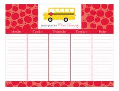 Great gift for a Teacher: School Days Calendar Pad