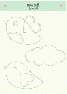 You searched for artesanato - Page 2 of 27 - Manhã Viva Felt Patterns, Applique Patterns, Painting For Kids, Art For Kids, Felt Crafts, Diy And Crafts, Bird Template, Organization Bullet Journal, Felt Templates