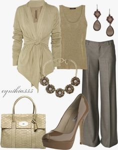 Work Outfits | Cream Dream