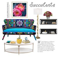 """""""Succulent Color"""" by saifai ❤ liked on Polyvore featuring interior, interiors, interior design, home, home decor, interior decorating, Pacific Coast, Global Views, Pier 1 Imports and Kate Spade"""
