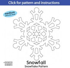Snowflake cutout patterns Simple Instructions included  Fun