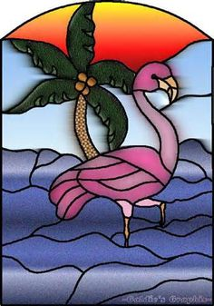 stained glass flamingos - Yahoo! Image Search Results