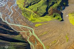 It's about the pure and dreamy nature. Enjoy the breathtaking aerial views of Iceland by french photographer Sarah Martinet. Landscape Pictures, Nature Pictures, Fantasy Landscape, Abstract Landscape, Aerial Photography, Landscape Photography, Amazing Photography, Nature Photography, Iceland Landscape