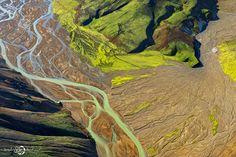 ALLPE Medio Ambiente Blog Medioambiente.org : Los paisajes vivos de Islandia a vista de pájaro