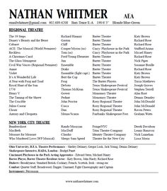 acting resume nathan whitmer actor aea