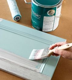 How to Paint Cabinets or Furniture... using liquid sandpaper (deglosser).... - cuts out the sanding step. From Better Homes and Gardens