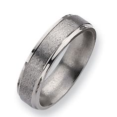 Chisel Ridged Edge and Polished Ring