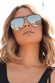 Quay X Desi High Key Sunglasses in Black