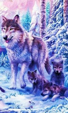 wolf with cubes Wolf Images, Wolf Photos, Wolf Pictures, Anime Wolf, Wolf Life, Wolf Artwork, Wolf Painting, Fantasy Wolf, Wolf Spirit Animal