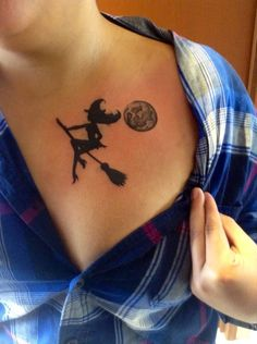 WITCH TATTOO on Pinterest | Witch, Miss Fluff and Witch Silhouette