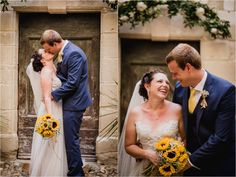 Chateau de Brametourte wedding Anna & Alex Share a kiss in the courtyard by Wild Connections Photography Anna, French Wedding, Bridesmaid Dresses, Wedding Dresses, One Shoulder Wedding Dress, Destination Wedding, Kiss, Wedding Inspiration, Photography