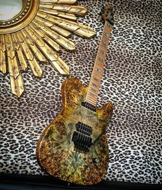 Holy... this one is absolutely insane! What would you change about it?  @lucky7rocks -  OK the reveal O.M.G this guitar is awesome ..keep tuned there's more to come❤️#kieselcarvinguitars #kieselfamily #fashion #maple #wood #live #awesome #guitarist #love #art #music #jeffkiesel #metal  #artist #rock #floydrose #photo #hot #fun #wow #me #you #cool #sexy #gorgeous #design