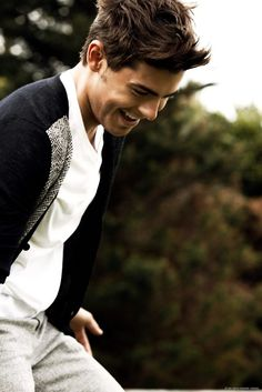 zach efron. you get a repin because you are wearing a cardi and I like that in a man.