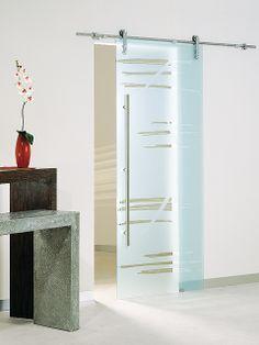 Puerta corredera de cristal Casali System Graffio de Maydisa. www.maydisa.com