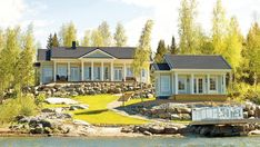 Aurora - Kannustalo Aurora, Home Fashion, Finland, Cabin, Mansions, House Styles, Beautiful, Home Decor, Houses