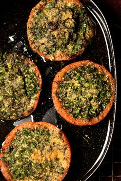 Stuffed Tomatoes: This savory side dish is stuffed with herbs, garlic, and bread crumbs. #Tuscan