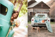 A inspiration roundup for my fascination and love of vintage trucks as wedding props and decor.