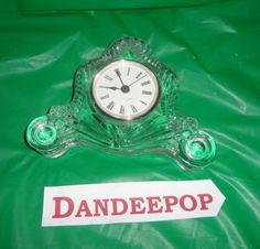 Crystal Glass Quartz Clock Anastasia's Gift Shop find me at www.dandeepop.com