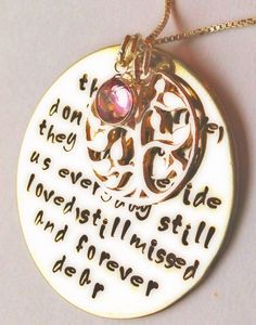 memorial necklace remembrance necklace loved one by natashaaloha, $55.00