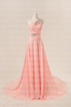 Bridesmaid dress/prom dress/peach by Dressfan on Etsy, $99.00