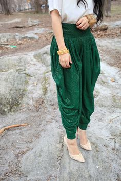 handmade line of exceptional quality harem trousers