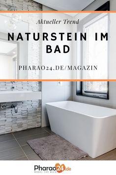 Natürlich, sinnlich und sehr hochwertig – ein Bad gestaltet mit Naturstein ist beliebter denn je. In diesem Artikel findet ihr alle Vorteile von Naturstein und erfahrt mehr, welche Art für euer Badezimmer am besten geeignet ist. Erfahre mehr auf: Pharao24.de/magazin! #magazin #naturstein #möbeltipps #badtipps #wohntrends #wohnideen #interior #bathroom #design #home #einrichten #deko #naturedesign Nature Design, Dere, Girl Wallpaper, Designs To Draw, Bathtub, Bathroom, Glossier, Brownies, Chili