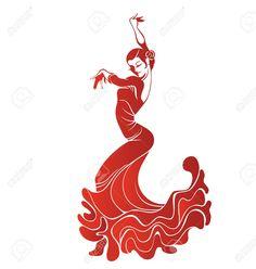 36058112-Silueta-stilized-de-Mujeres-del-bailar-n-espa-ol-de-flamenco-Foto-de-archivo.jpg (1235×1300)