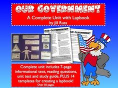 Government. Complex text AND a lapbook. What could be better than that?