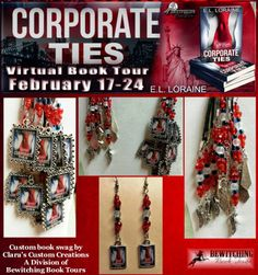 Corporate Ties Giveaway includes a $50 Amazon Gift Card, Jewelry, book copies and book swag
