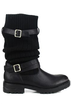 Black or Brown Uma Knit Convertible Boot Size 7 1/2.