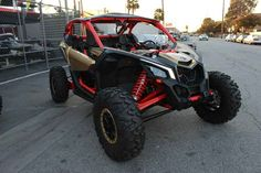 New 2017 Can-Am Maverick X3 X RS Turbo R Gold & Can-Am R ATVs For Sale in California. 2017 Can-Am Maverick X3 X RS Turbo R Gold & Can-Am Red, 2017 Can-Am® Maverick X3 X RS Turbo R Gold & Can-Am Red BORN LEADER This is the world's first factory 72-in wide side-by-side vehicle. With 24-in of suspension travel and advanced FOX Racing components, it stretches the X3 X rs abilities far beyond expectations for staggering performance anywhere. Features may include: 72-in width for ultimate…