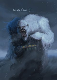Abominable Snowman, Phil Dragash on ArtStation at https://www.artstation.com/artwork/abominable-snowman