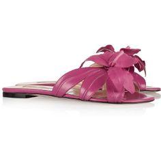 Oscar De La Renta - Fuchsia Tropical Sandals - $278.00 (60% off)