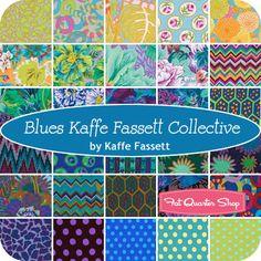 Blues Kaffe Fassett Collective Fat Quarter Bundle Kaffe Fassett for Westminster Fibers FB1FQGP-20133 - Fat Quarter Shop