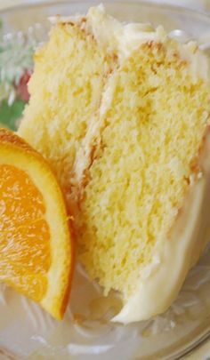California Orange Layer Cake With Orange Cream Cheese Frosting